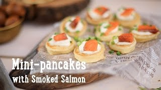 Mini-pancakes with Smoked Salmon [BA Recipes]