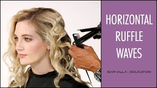 How To Create Horizontal Waves With a Marcel Iron   Ruffled Waves