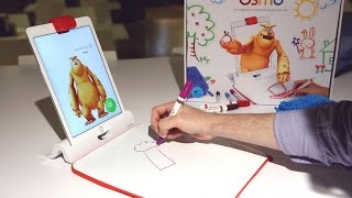 The new Monster app from Osmo turns a whiteboard and markers into digital art
