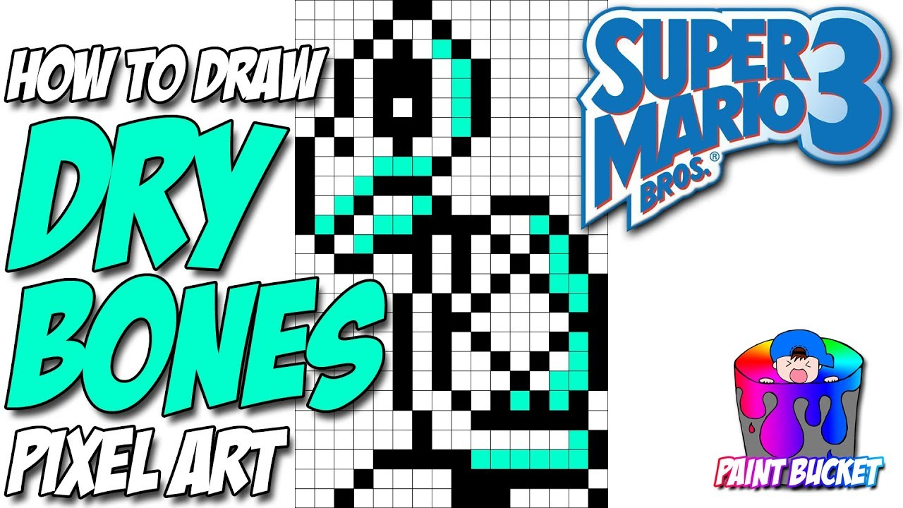 How To Draw Dry Bones From Super Mario Bros 3 Nintendo Smb3