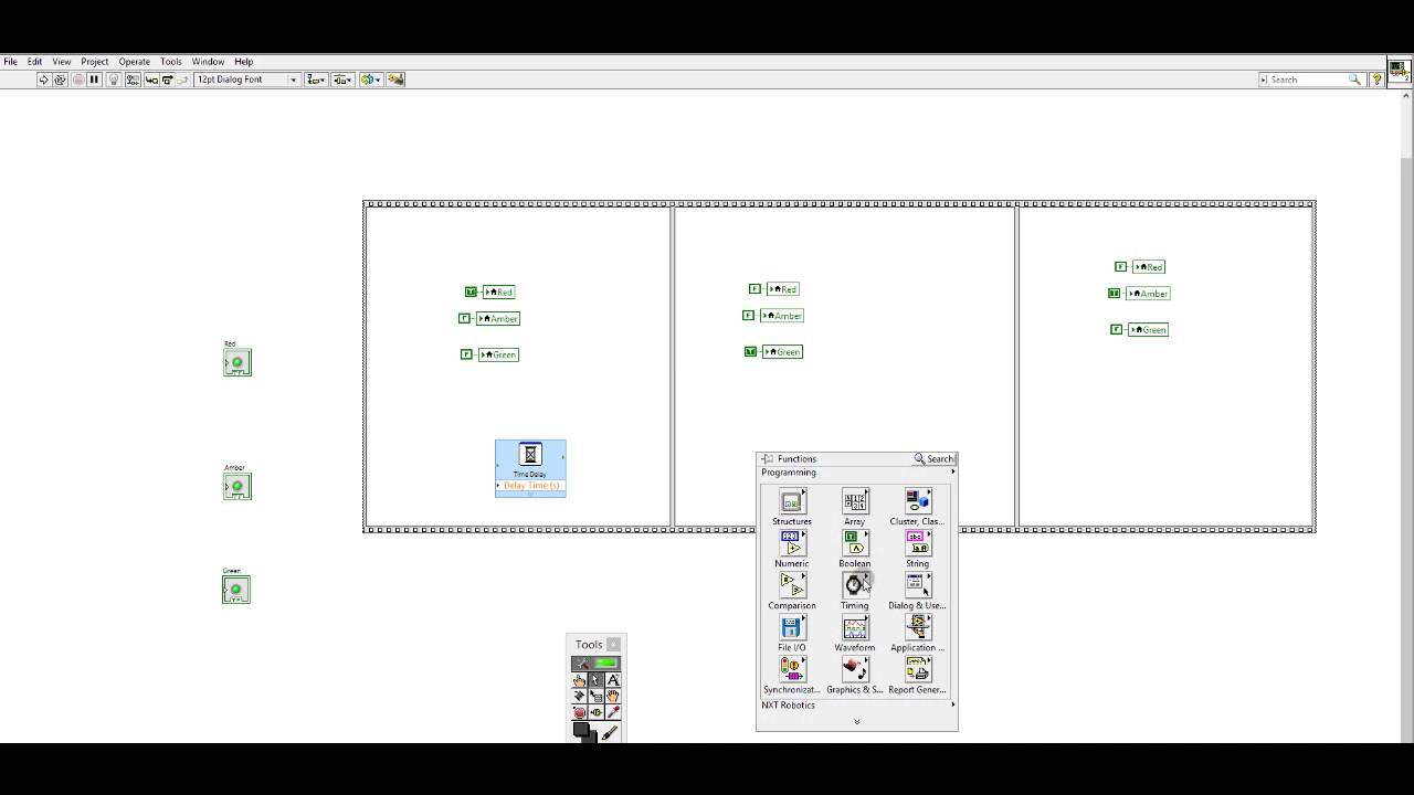 Labview Basic Traffic Light Youtube Figure 4 Final Circuit Oneway Road Intersection