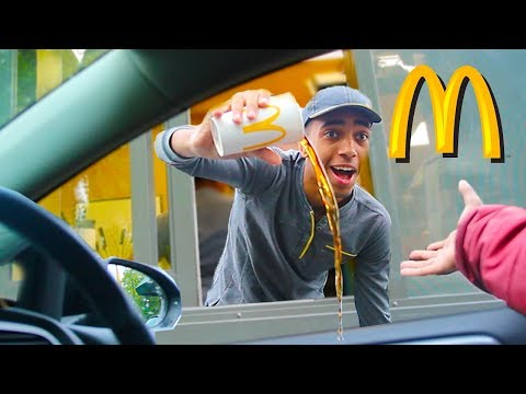 Fake Employee Prank At McDonalds Drive Thru