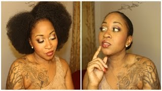 Natural Hair 101 | Turn Afro into Classic Bun With Layed Edges Like relaxed look Bun