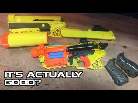 NERF x FORTNITE SP-L (Suppressed Pistol) Review & Teardown   Walcom S7