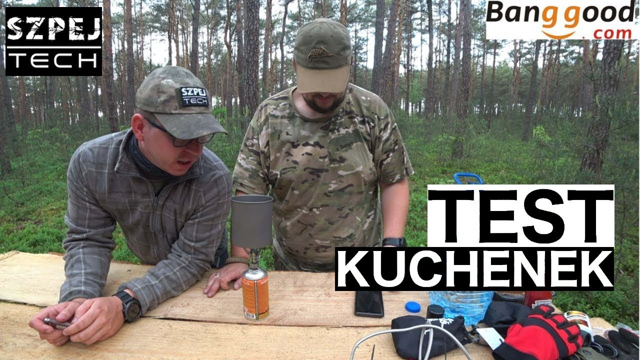 Test kuchenek - Naturehike NH17L035 T Stove, Alocs CS G22 Stove z Banggood  i Meva-pol Spider