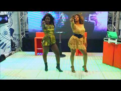 "Marllen & Dama do Bling cantam o sucesso ""Sarangane"" na TV Miramar (B4L Girls)"