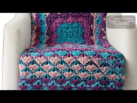 Crochet From The Middle Blanket Youtube