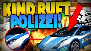 PSYCHO KIDDIE ruft POLIZEI AN !! - VATER WIRD zur HILFE GERUFEN !!! - Minecraft TROLLING