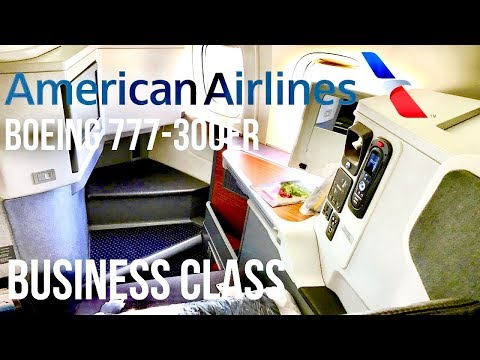 American Airlines Business Class 777-300ER Dallas To Hong Kong