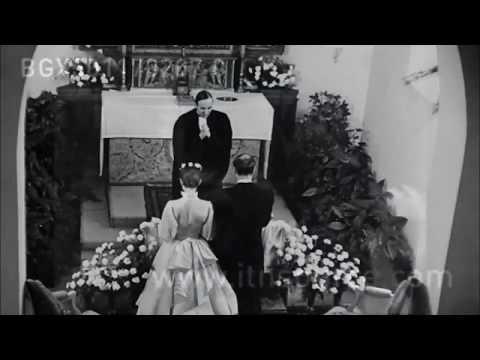 1954 Audrey Hepburn &  Mel Ferrer, Wedding, religious ceremony  Burgenstock