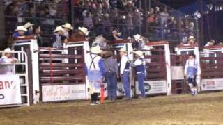 Scooter Howard And Damian Getchel Riding Bulls At 2010 Tri State Rodeo