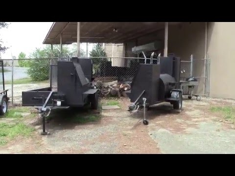 Street Vendor BBQ Smoker Grill Trailers Food Cart for Sale BBQ Catering Events Atlanta Georgia