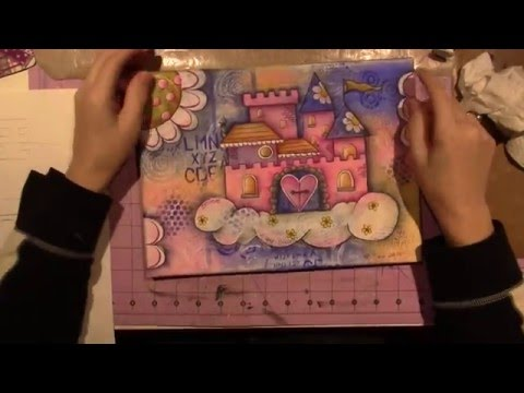 Art Journal Tutorial; Mixed Media Castle in the Sky