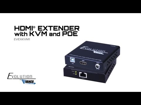 Evolution HDMI Extender With KVM And PoE