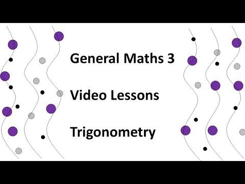 General Maths 3 - Trigonometry Video 21 (Distances in Nautical Miles)