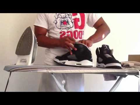 How to UNCREASE your suede shoes. ( Jordan Oreo 5's )
