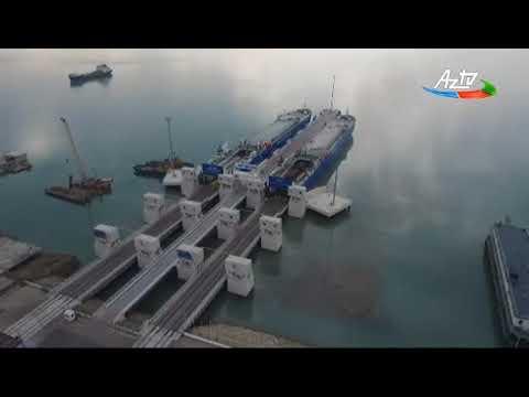 Prezident İlham Əliyev Bakı  Limanı kompleksində RO-RO terminalının açılışında iştirak edib
