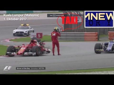 Vettel kommt per Taxi ins Ziel