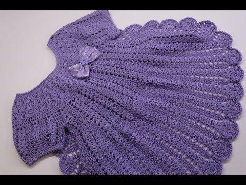 Vestido Crochet Para Niña 3 A 4 Años