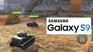 World of Tanks Blitz Galaxy S9 Gaming Test [Exynos 9810] (Max Settings)