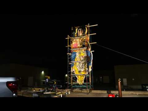 Ayyappan cut out Making Video At  Canada Shri Muththumaari Amman Temple