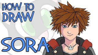 Watch How To Draw Chibi Sora From Kingdom Hearts Lessons And Draw By