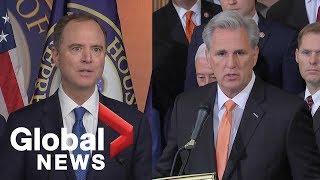 Democrats, Republicans react to resolution vote on Trump impeachment probe