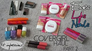 CoverGirl Haul: First Impressions - Part 2: Eyes. Lips. Nails! Thumbnail