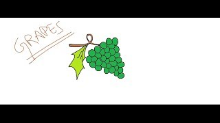 Easy Kids Drawing Lessons:How to Draw a Cartoon Grapes