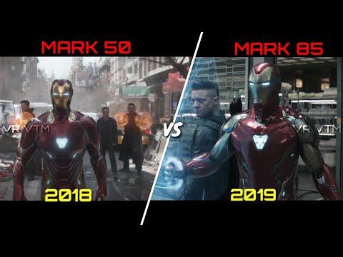 Iron Man Suit Up   Mark 7 - Mark 85   Slow Mo Comparison   Avengers