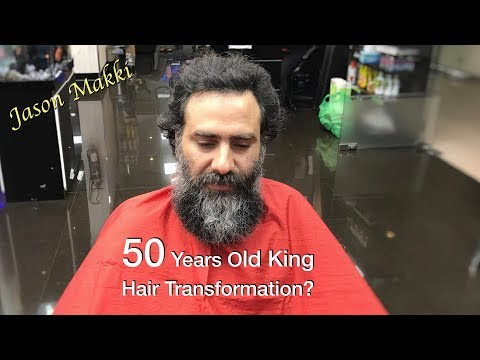 Hair Transformation for 50 Years Old King – Short Hair – Men Hair Style 2018 #23