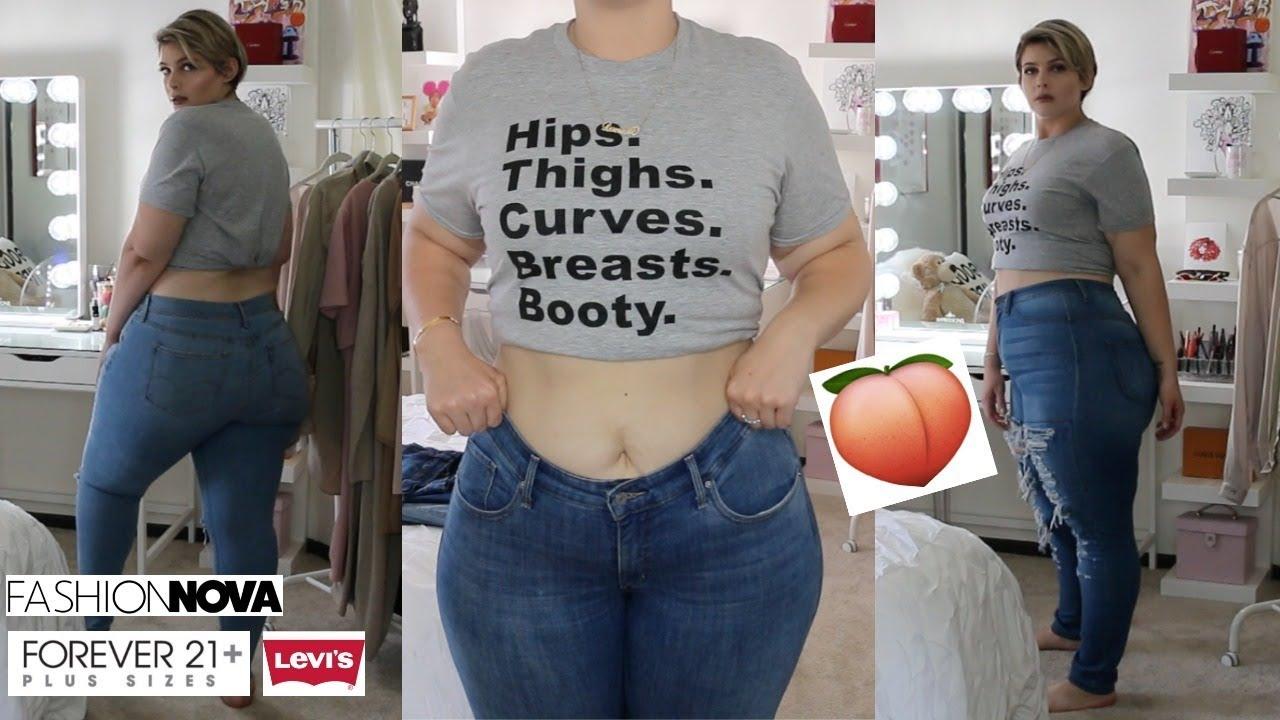 Big Booty Judys Favorite Jeans Plus Size Model Jean Try On Haul Dani Dmc