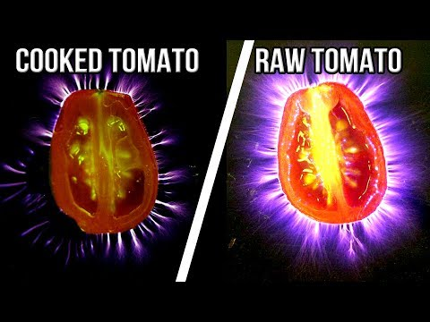 AURA ENERGY FIELD ♡ RAW FOOD VS COOKED ♡ BIO ENERGY DIMENSION ♡ KIRLIAN Photography Beyond Reality