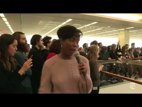 The Times's newsroom as the winners of the 2018 Pulitzer Prizes are being announced