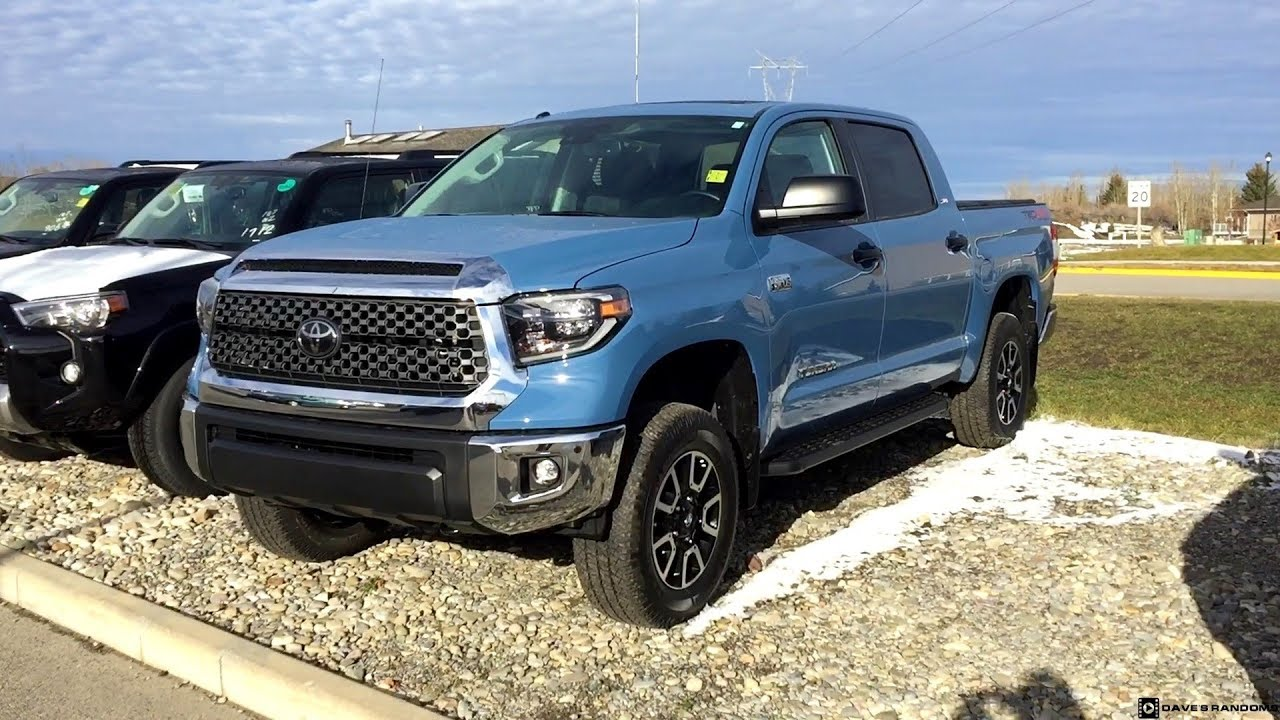 Cavalry Blue 2019 Toyota Tundra Crew Max With A Toytec Lift Youtube