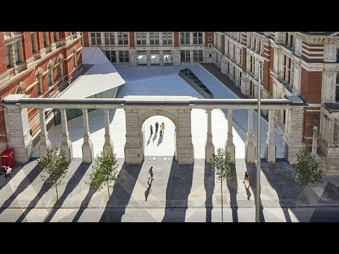 AL_A unveils new entrance and subterranean gallery for London's V&A museum