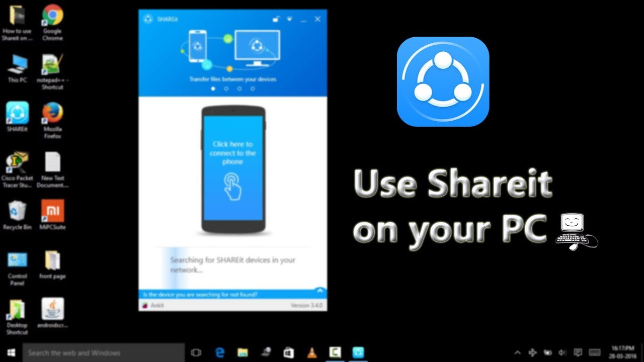 How to use Shareit on Pc (latest Version 3.4.0) - YouTube