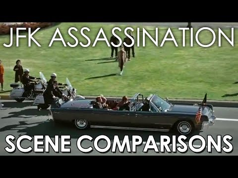 JFK Assasination - Zapruder film, Orville Nix film, Jackie (2016), Watchmen (2009) scene comparisons