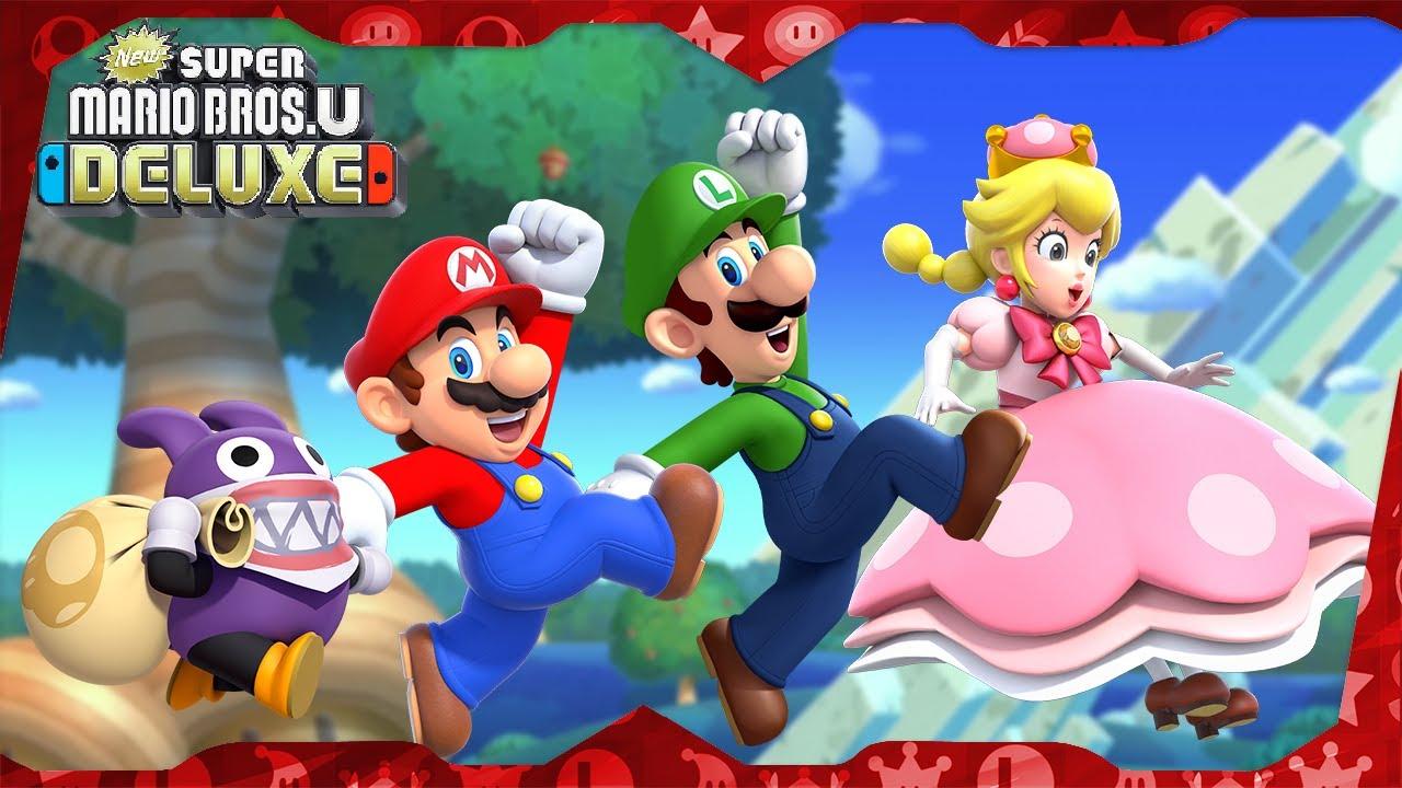 New Super Mario Bros. U Deluxe ᴴᴰ (2019) Full Playthrough (Warps, 4-Player)