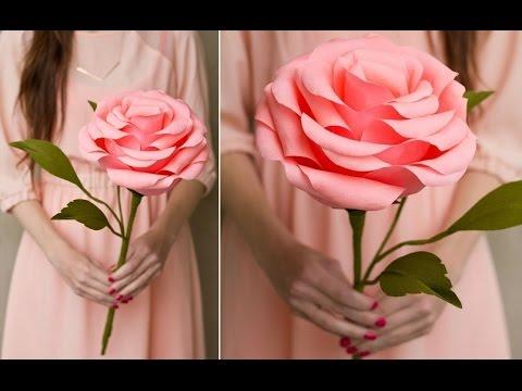 How to make large paper roses - Hướng dẫn làm hoa hồng giấy khổng lồ