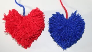 Woolen crafts wall hanging | Easy Beautiful love Flower Making Out Of Wool | NK Crafts