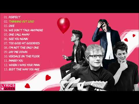 Love Songs (Valentines 2018) Nonstop Playlist/ Ed Sheeran, Bruno Mars, Sam Smith, Charlie Puth