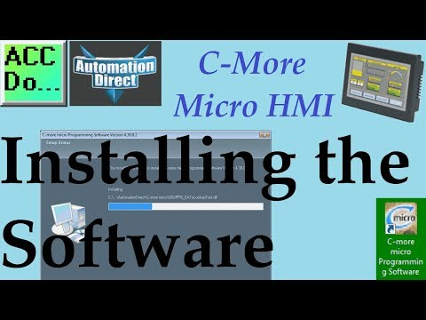 C More Micro HMI Installing the Software - YouTube