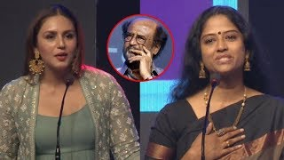 Actress Eswari rao & Huma qureshi Speech @ KAALA Grand Press Meet Filmylooks