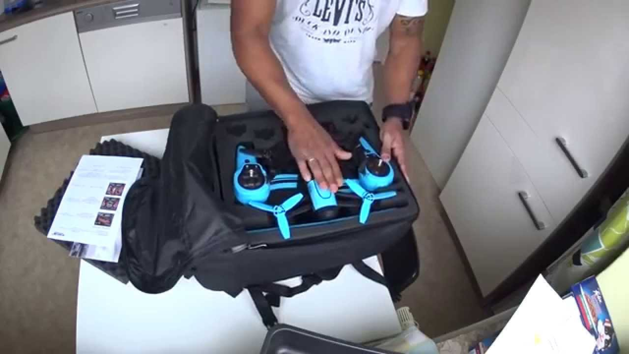 Unboxing Backpack For Parrot Bebop With Sky Controller And Propguards By Mc Cases