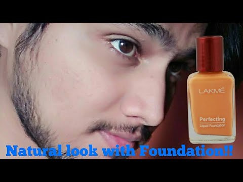 Mens Makeup Using Lakme Liquid Foundation For Natural Look
