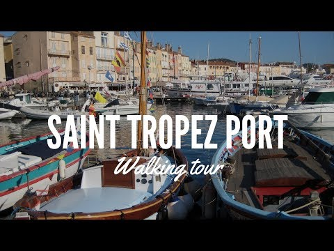 Walking Tour Saint Tropez Port, sailing boats and hidden corners