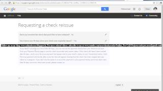 How to Request Check Reissue from Google Adsense for Indian Publishers/Bloggers/Content Creators