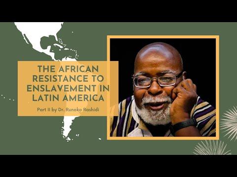 The African Resistance to Enslavement Latin America featuring Runoko Rashidi   26 Aug 2020