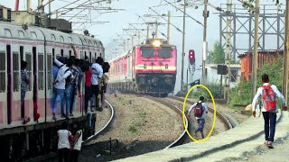 DONT BLAME RAILWAY for ACCIDENT | SILLY PEOPLE RUNNING ON TRACK